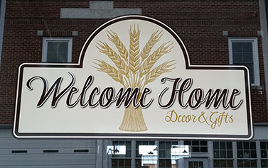 Carroll Signs & Advertising Window Graphics Welcome Home Decor & Gifts